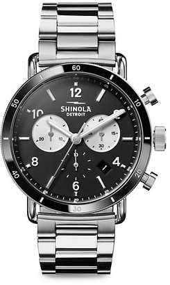Shinola The Canfield Sport Velvet Dial Stainless Steel Bracelet Watch