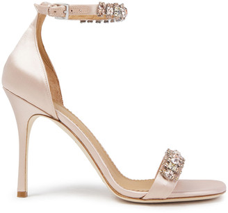 Tory Burch Crystal-embellished Satin Sandals
