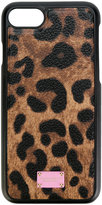 Dolce & Gabbana iPhone 7 leopard print case - women - Cotton/Polyester/Polyurethane - One Size