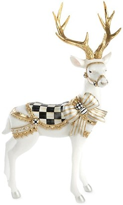 Mackenzie Childs White Bow Tie Standing Deer Figurine