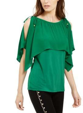 Michael Kors Michael Cold-Shoulder Overlay Top, Created For Macy's