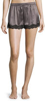 Neiman Marcus SILK SHORT WITH LACE
