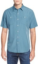 Tommy Bahama Island Modern Fit Microcheck Sport Shirt