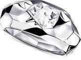 Swarovski Silver-Tone High-Polished Crystal Bangle Bracelet