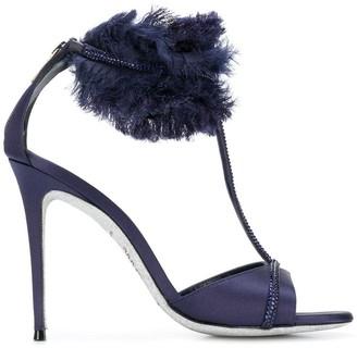 Rene Caovilla textured ankle strap sandals