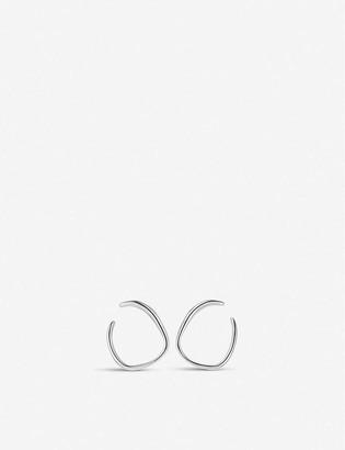 Monica Vinader Nura sterling silver wrap earrings