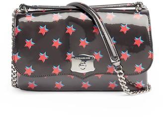 Calvin Klein Black Shoulder Bag With Red Stars