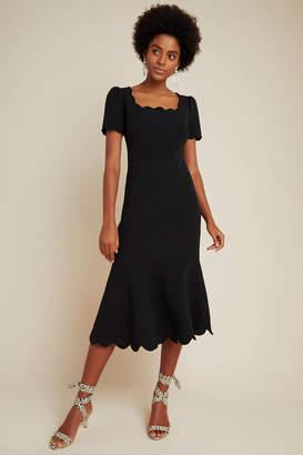 Shoshanna Scalloped Midi Dress