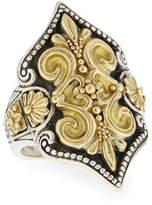 Konstantino Carved 18K Gold Fleur de Lis Ring