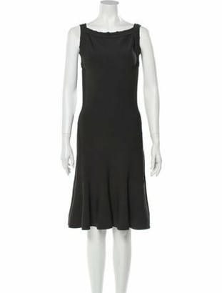 Alaia Bateau Neckline Knee-Length Dress Grey