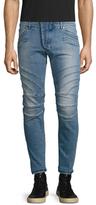 Pierre Balmain Faded Motorcycle Skinny Jeans