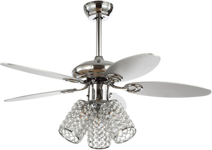Thumbnail for your product : Jonathan Y Designs Kris 42In 3-Light Crystal Led Ceiling Fan With Remote