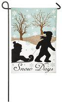 """Evergreen Snow Days"""" Indoor / Outdoor Garden Flag"""