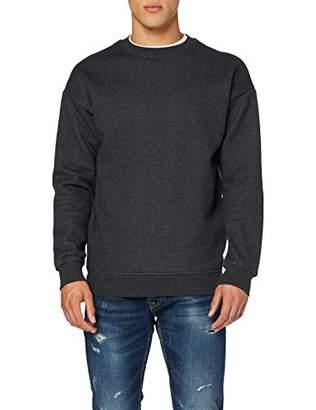 Build Your Brand Men's Sweat Crewneck Sweatshirt,Large