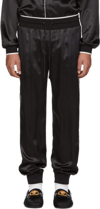 Dolce & Gabbana Black Silk Pyjama Trousers