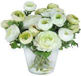 "Winward Silks 10"" Ranunculus in Vase - Faux"