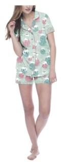Munki Munki Yarn Kitties Classic Pajama Set, Online Only