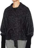 Dolce & Gabbana Tweed Belted Coat