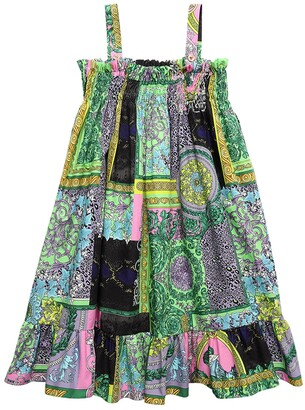 Versace Baroque Print Cotton Poplin Dress