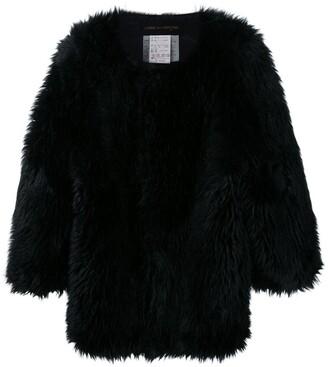 Comme Des Garçons Pre-Owned Oversized Faux Fur Jacket