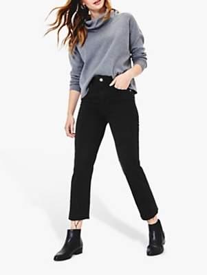 Oasis Edie Cropped Jeans, Black