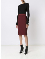 Thierry Mugler stitch detail straight skirt