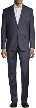 Kenneth Cole New York Regular-Fit Plaid Wool Blend Suit