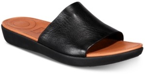 FitFlop Women's Sola Slides - Leather Sandal Women's Shoes
