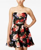 B. Darlin Juniors' Strapless Fit & Flare Dress, A Macy's Exclusive Color