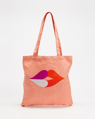 Kate Spade Heart Lips Canvas Tote