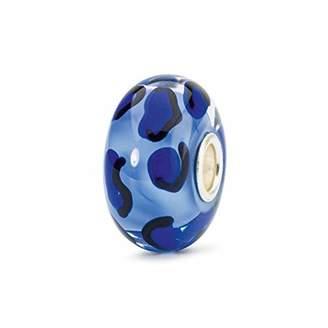 Trollbeads Glass Bead Sapphire Cheetah