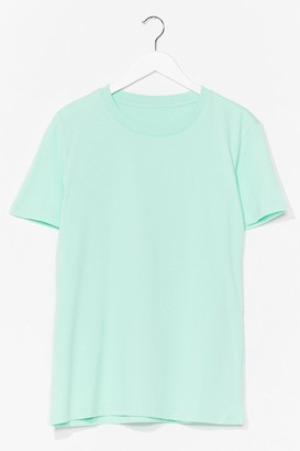 Nasty Gal Womens Cotton My Watch Relaxed Tee - Blue - XS, Blue