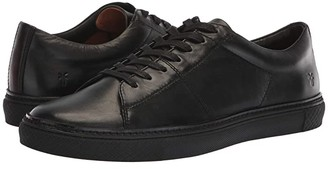 Frye Essex Low Folded Edge (Black Polished Soft Full Grain) Men's Lace up casual Shoes