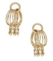 Ettika Mini Jingle Diamond Charms 18K Gold Plated Stud Hoops