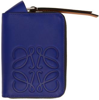 Loewe Blue Brand 6 Card Zip Wallet