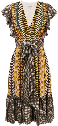Temperley London Printed Tie Waist Dress