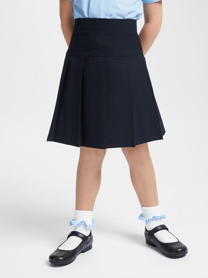 John Lewis & Partners Girls' Generous Fit Adjustable Waist Pleated School Skirt
