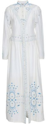 Talitha Collection Embroidered Cotton And Silk-blend Gauze Maxi Dress