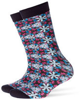 Burlington Printed Cotton Ankle Socks