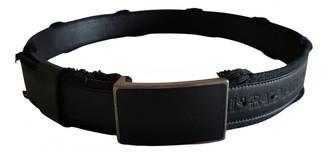 Balmain Black Leather Belts