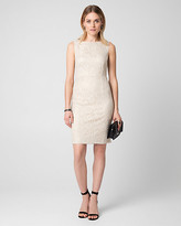 Le Château Lace Boat Neck Cocktail Dress