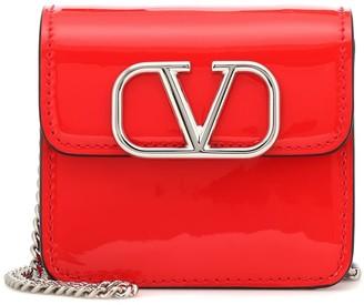 Valentino VSLING Mini patent leather wallet shoulder bag