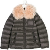 Moncler fur collar padded coat