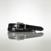Reversible Leather Skinny Belt
