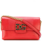 Dolce & Gabbana Leather Shoulder Bag With Chain