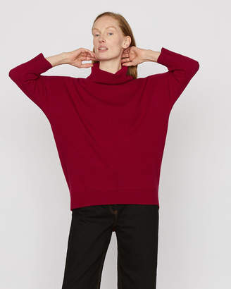 Jigsaw Drop Hem Cowl Jumper