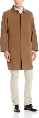 London Fog Men's Durham 40 Inch Twill Fly Front Rain Coat