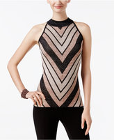 INC International Concepts Mock-Neck Chevron Sweater, Only at Macy's