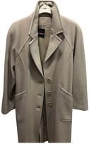 Genny Ecru Wool Coat for Women
