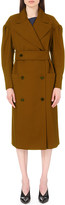 Lanvin Ruched wool trench coat